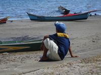 Young Fisherman Thinking