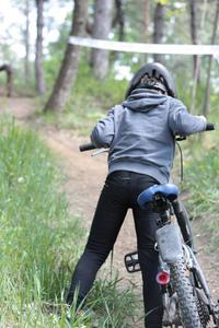 Boy and mountain bike