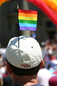 Rainbow Flag in Cap