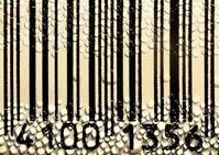 Barcode & waterdrops